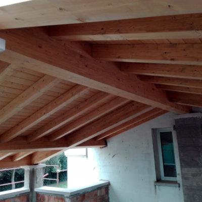 Tetto in legno a Vanzo (PD)