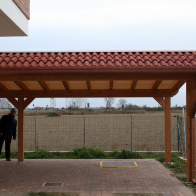 portico residenziale: prospetto