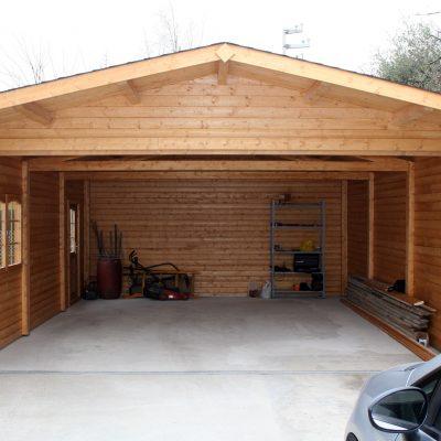 struttura in legno per garage