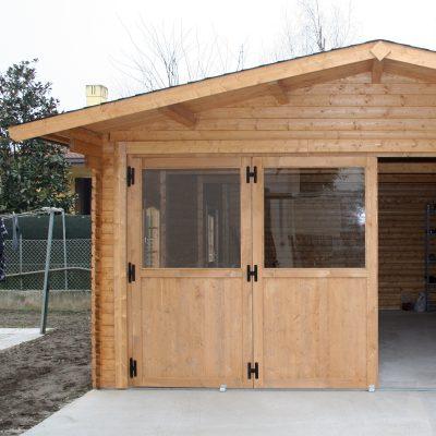 struttura in legno per garage, dettaglio