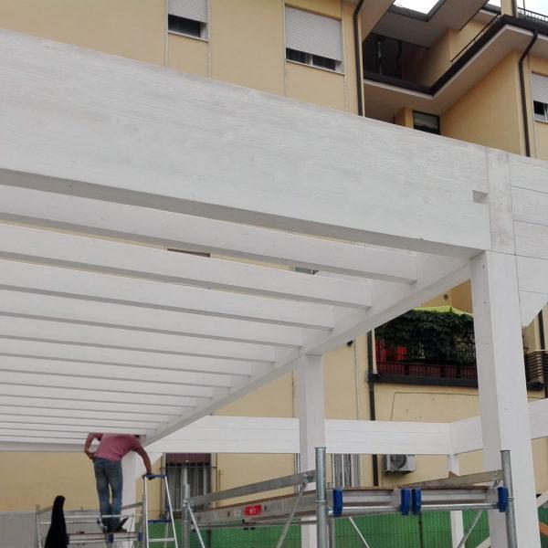 travatura del portico
