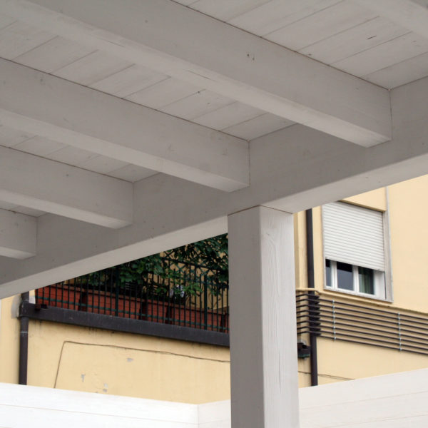 dettaglio del portico completato